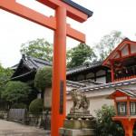 Shrine behind Kyoto temple