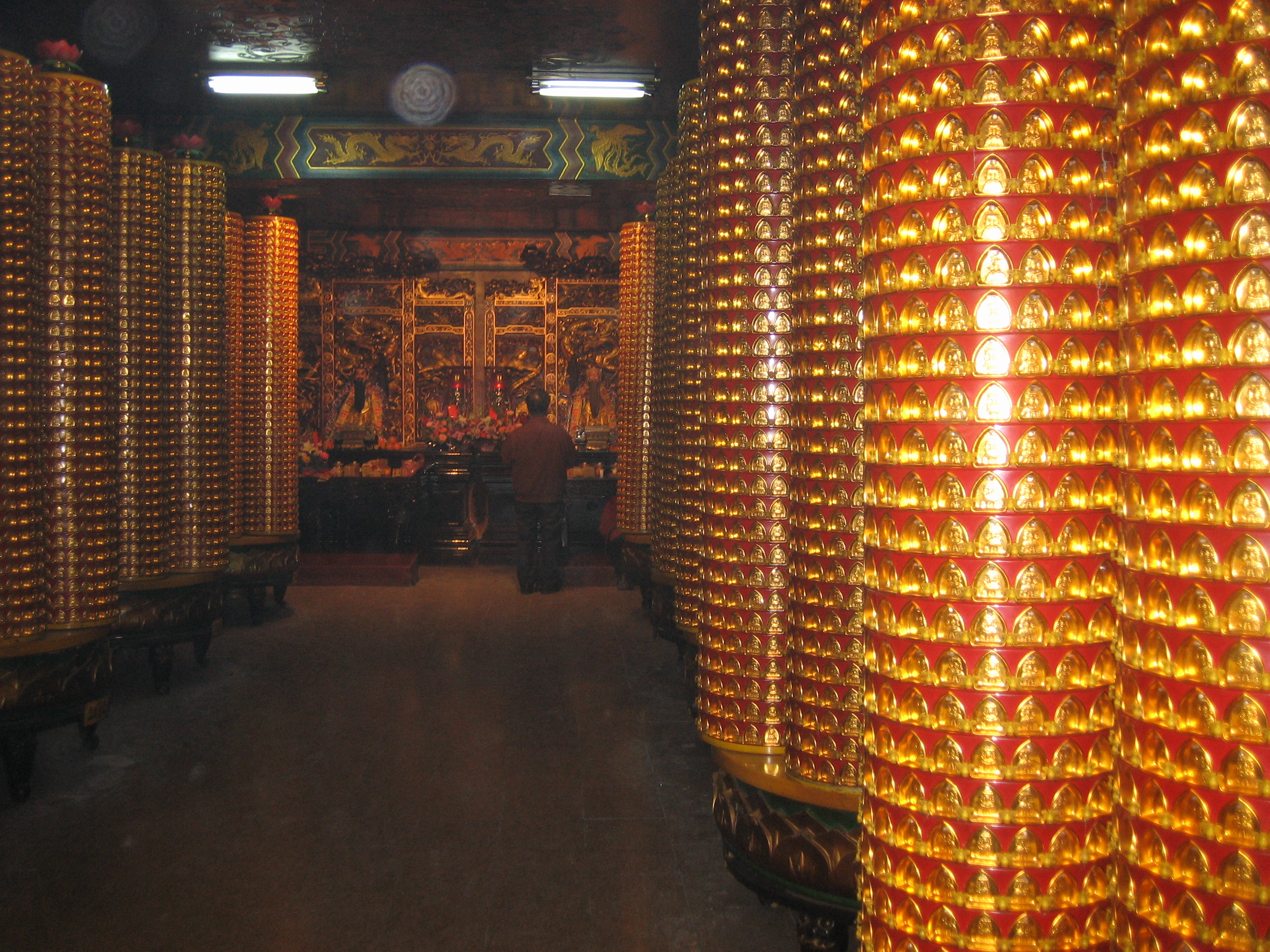 Donations in old Dajia temple