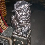 Lion statue in old Dajia temple