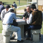Mahjong players in Taichung garden