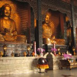 Buddhas and wooden fish