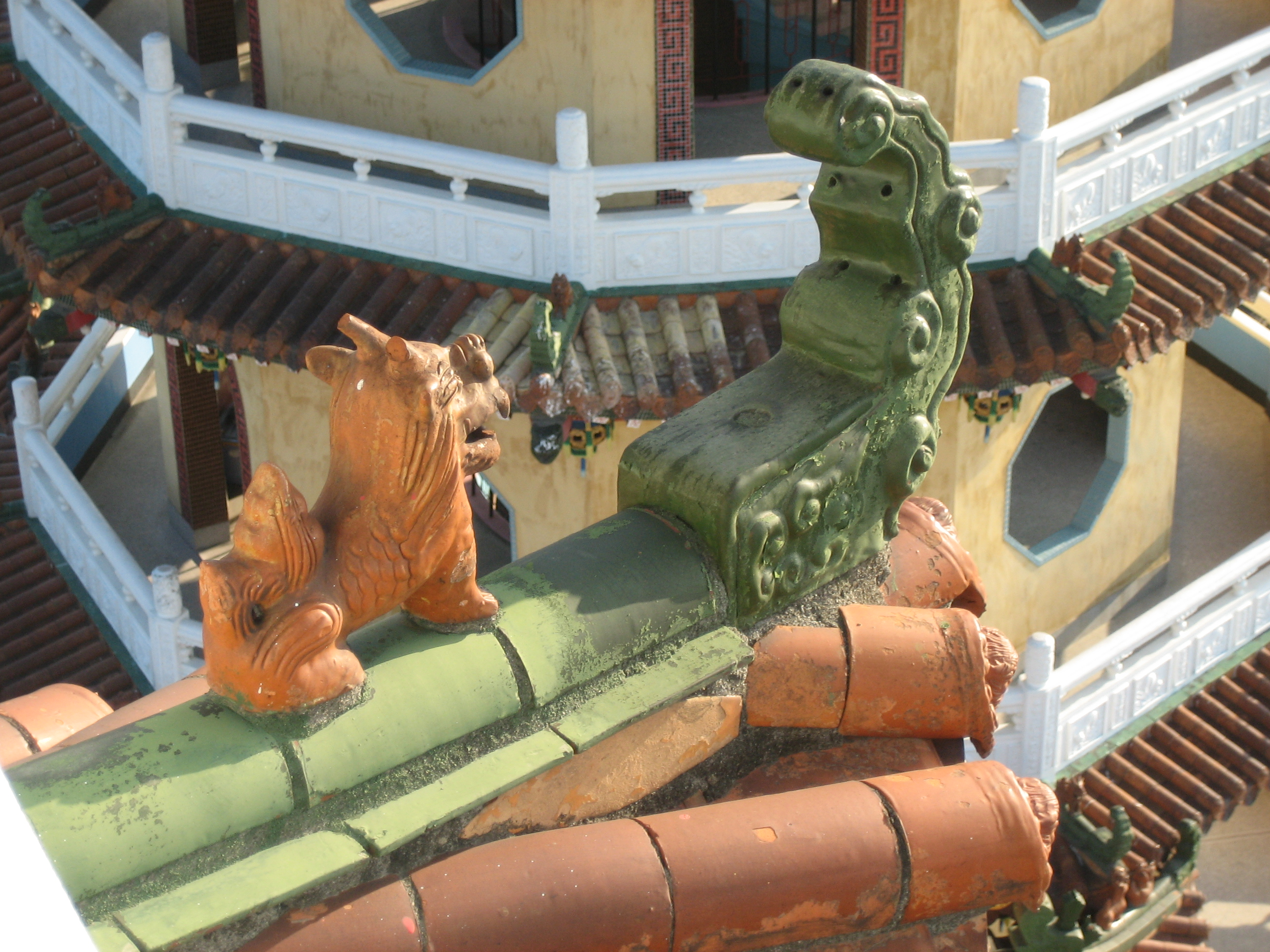 Detail of the tiger and dragon towers