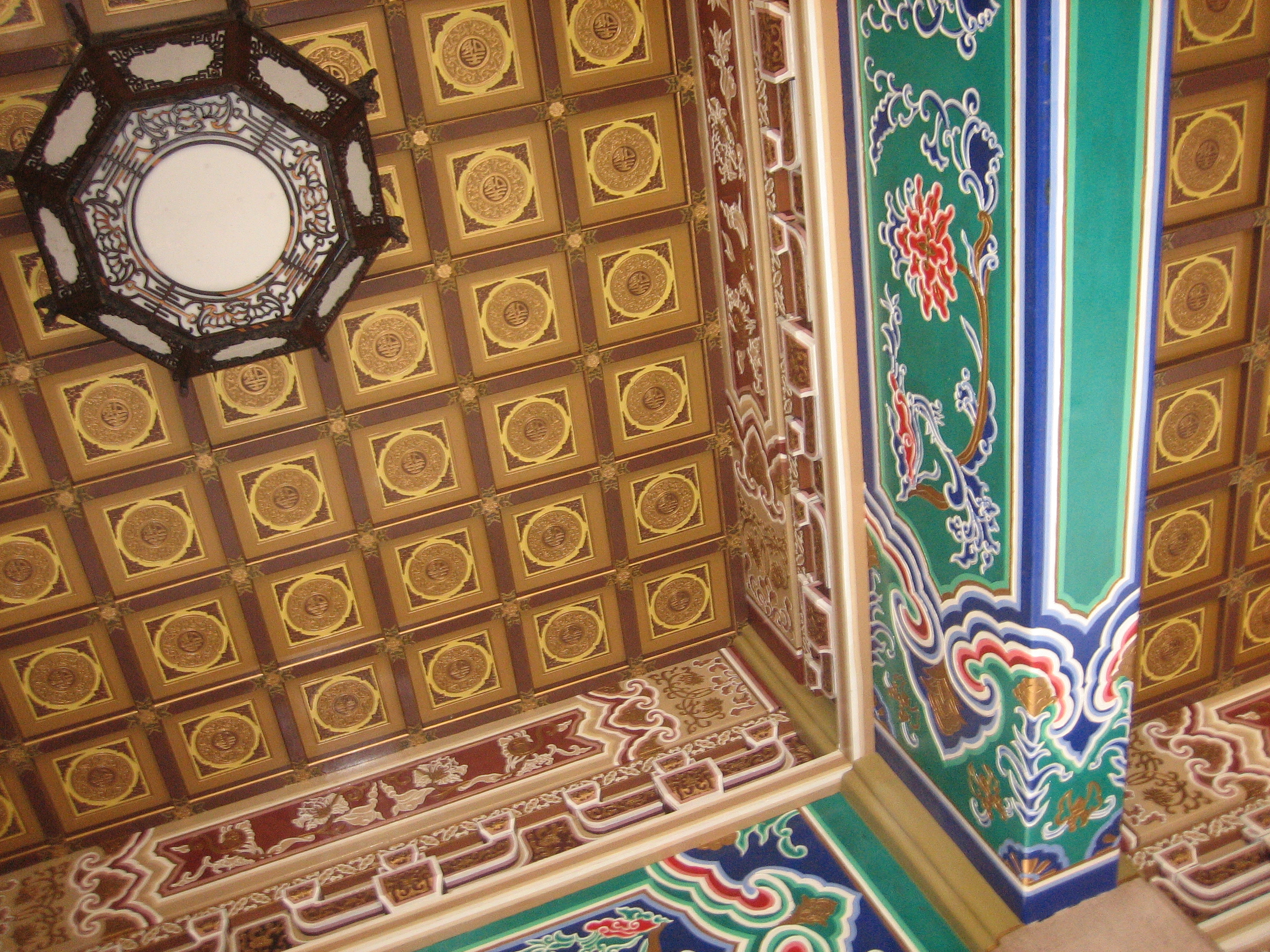 Roof of temple of Confucius in Taichung