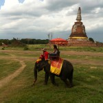 Elephant ride at Ayutthaya