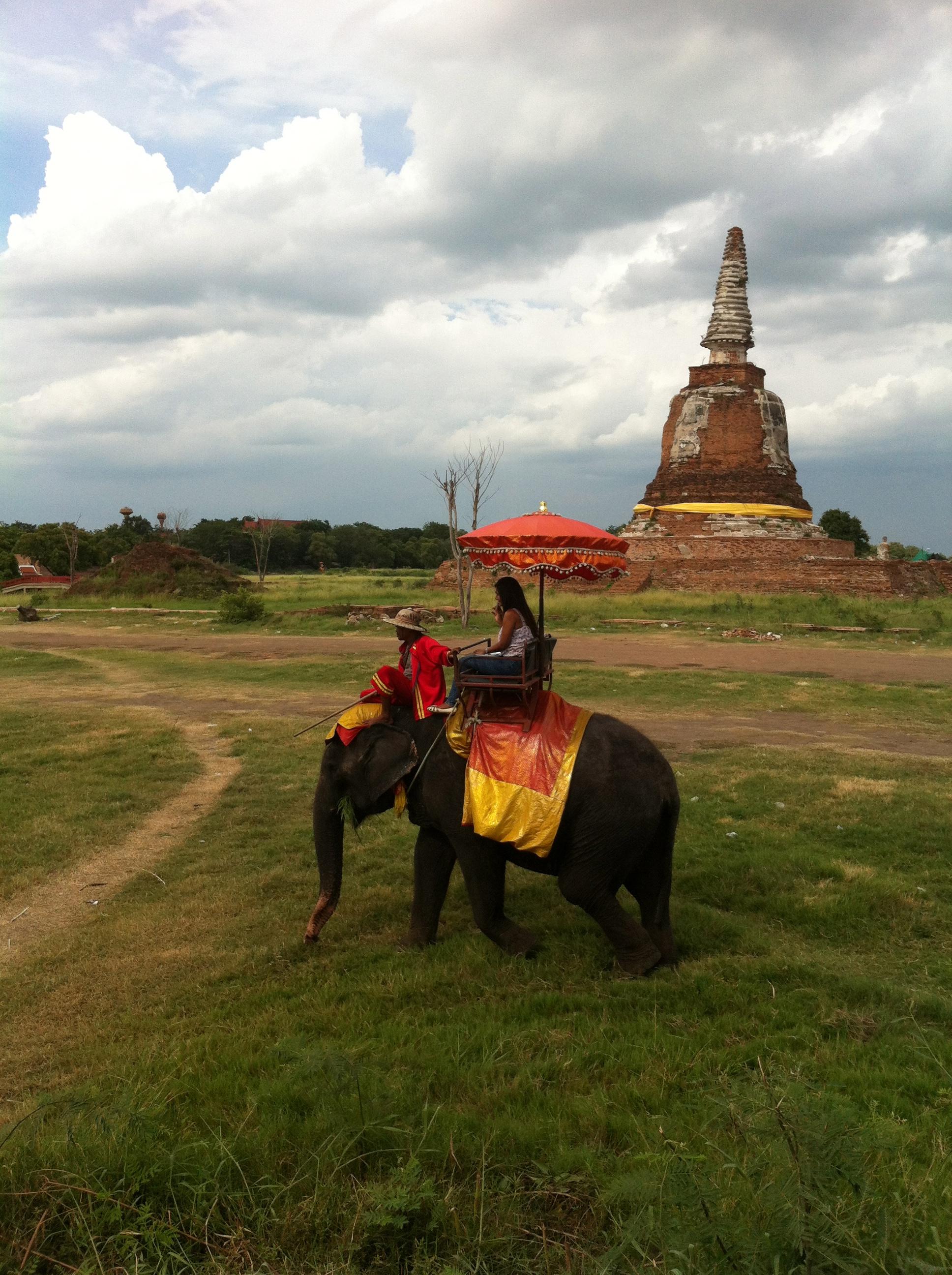 Elephant ride at Ayutthaya