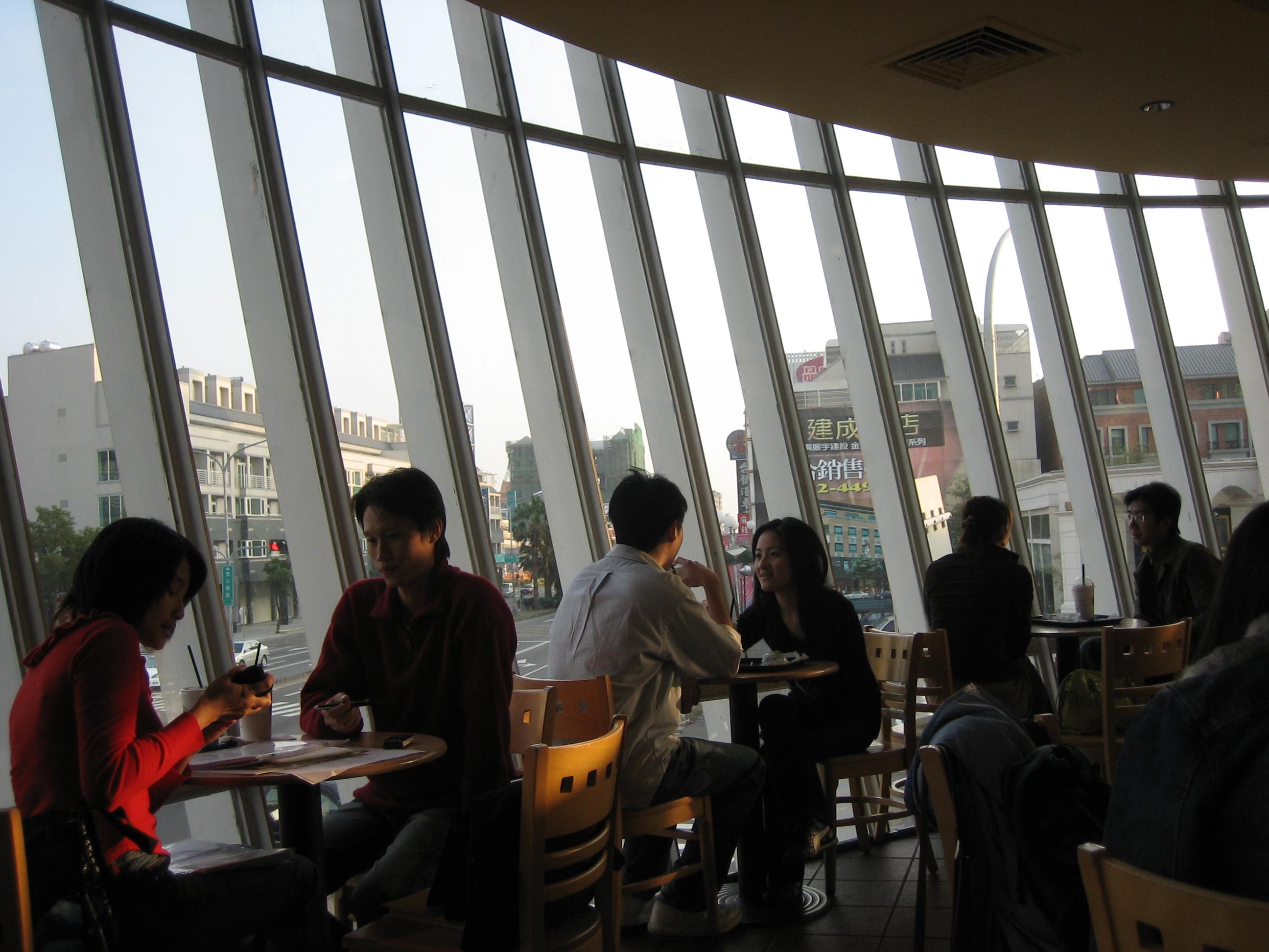 in Starbucks Coffee in Taichung