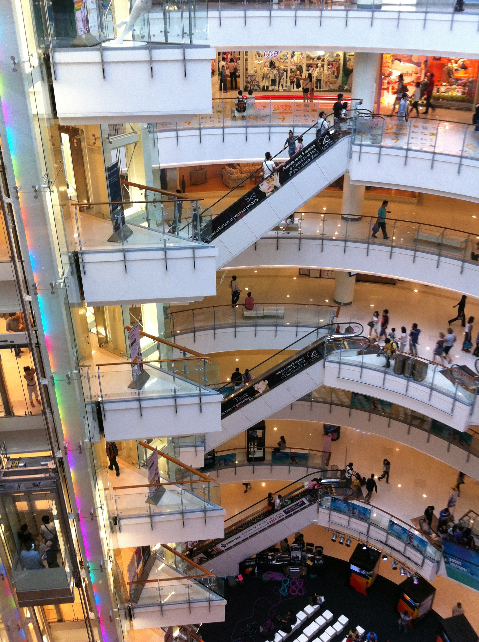 In CentralWorld shopping mall