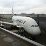 The A380 at Narita airport