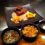 Kobe beef meal at Seryna Roppongi