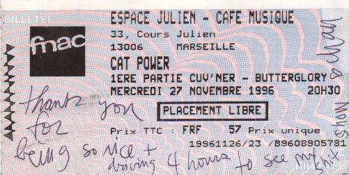 Cat Power at the Café Julien