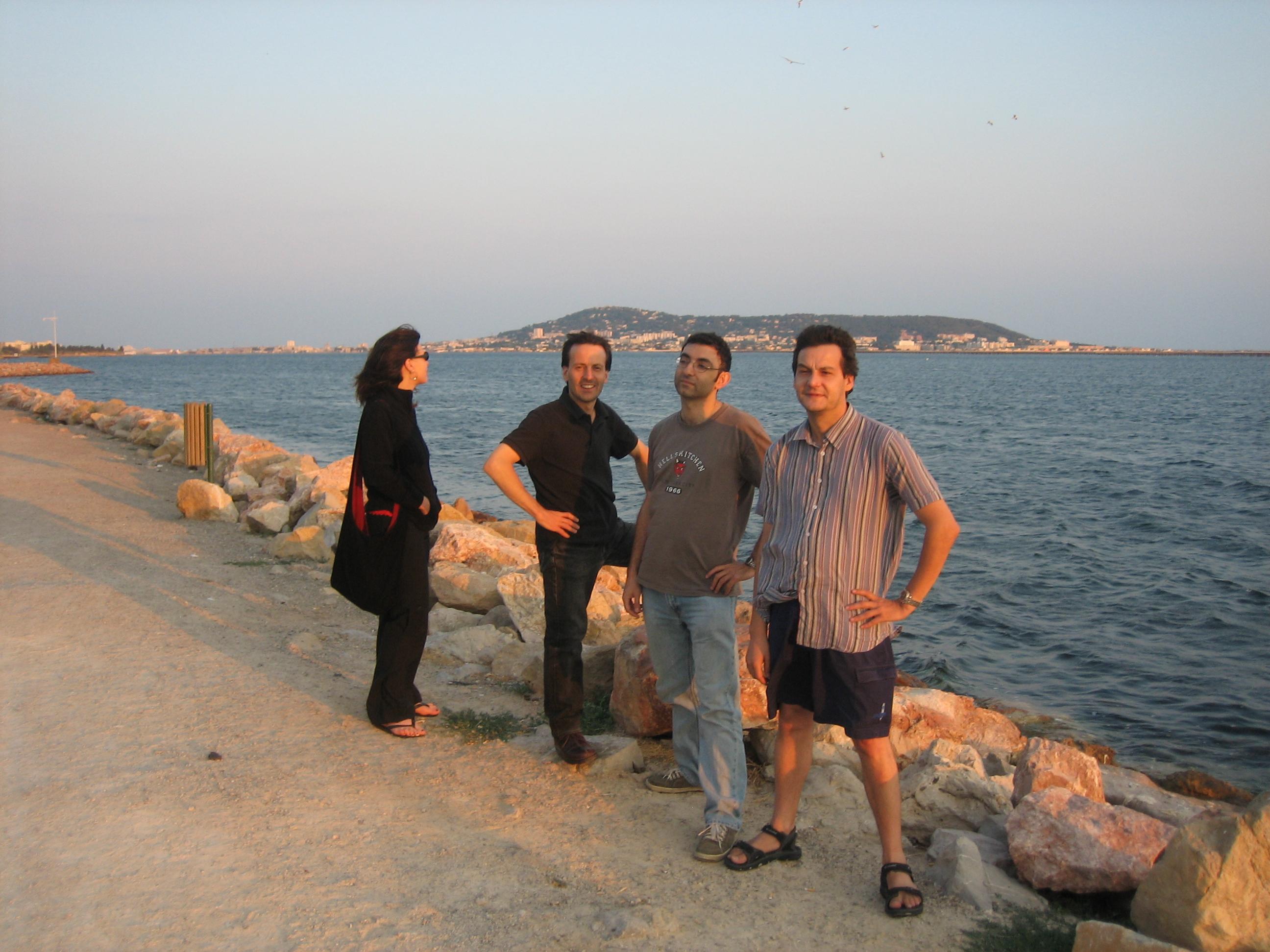 Vanina, Gaby, Babak and Pascal at Bouzigues