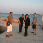 Alain, Gaby, Vanina and Pascal at Bouzigues