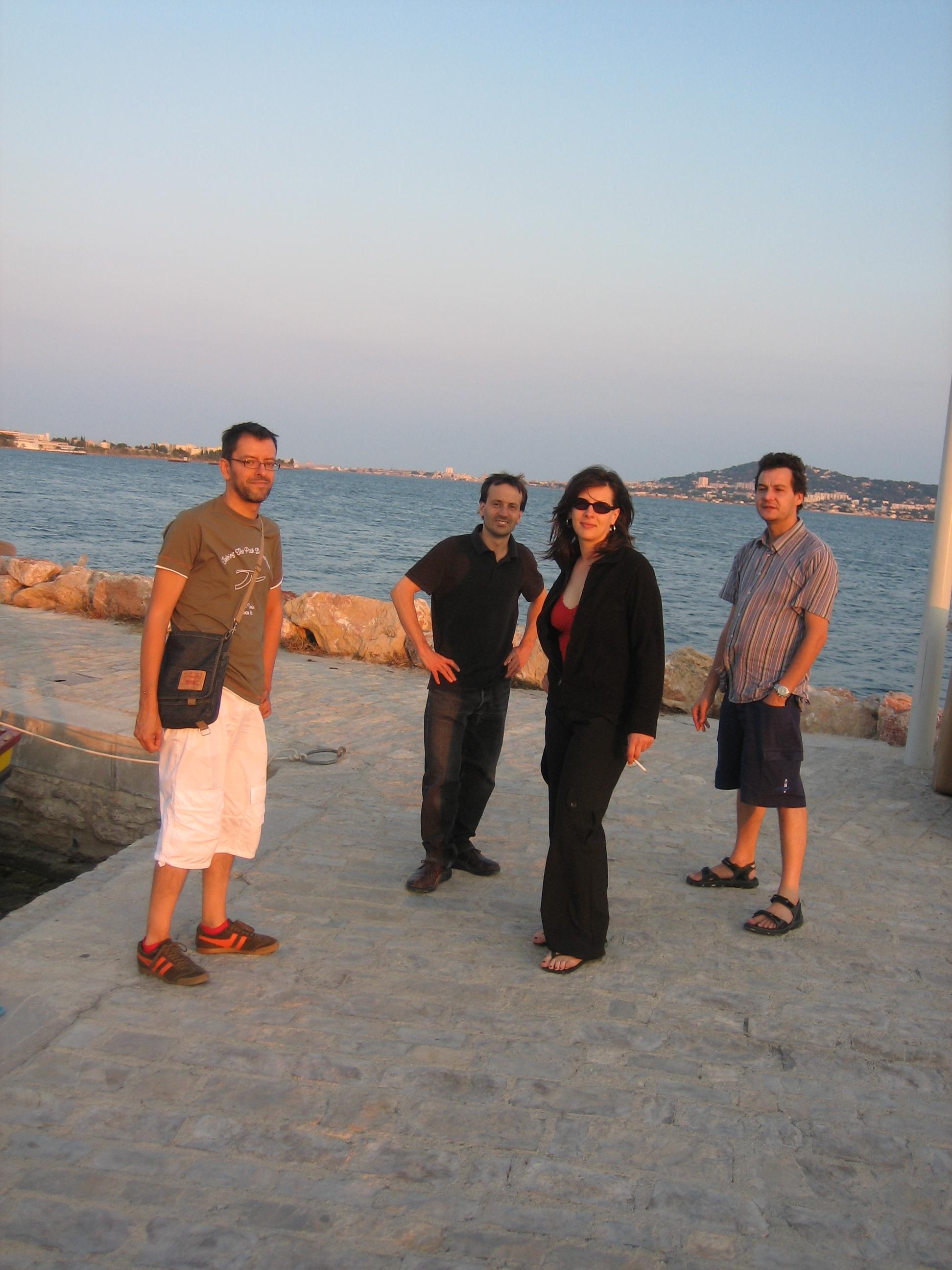 Alain, Gaby, Vanina and Pascal at Bouzigues