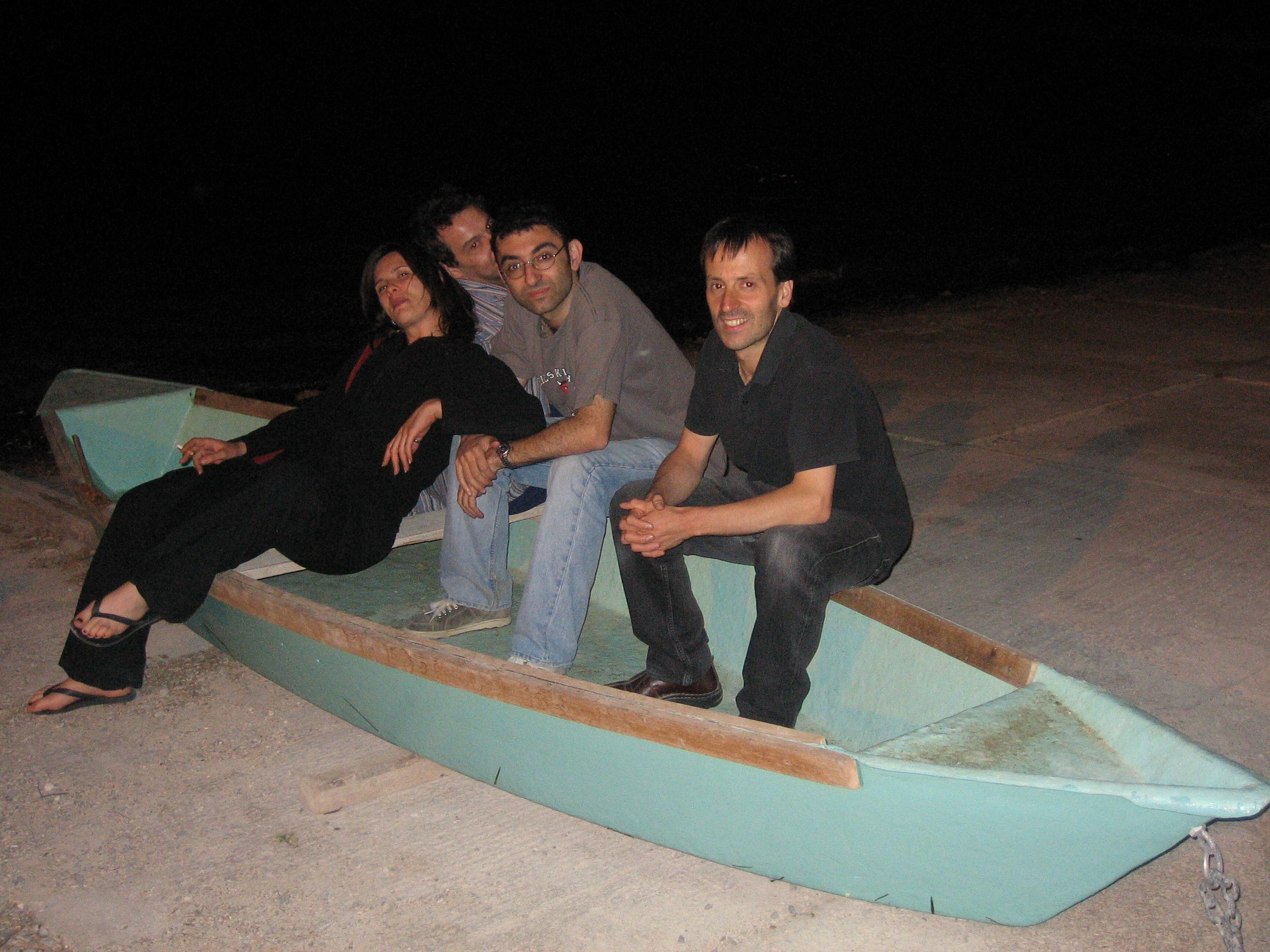 Vanina, Pascal, Babak and Gaby at Bouzigues