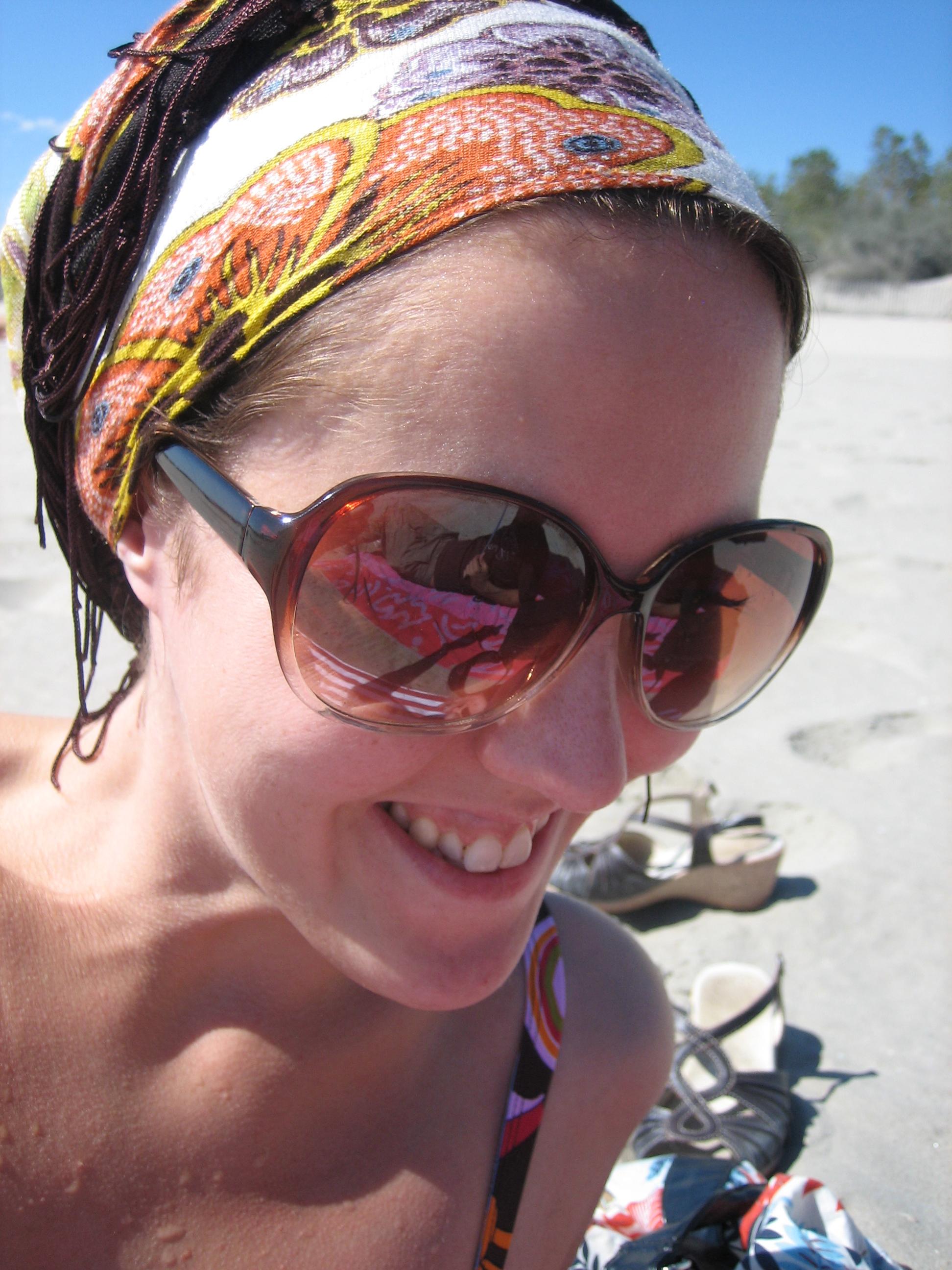 Lisa on the beach